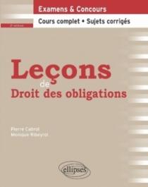 Leçons de Droit des obligations - 2e édition
