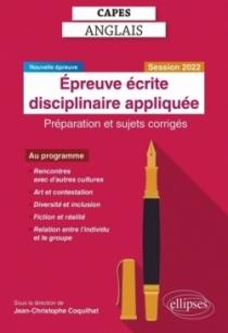 CAPES Anglais. Épreuve écrite disciplinaire appliquée. Session 2022