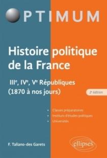 Histoire politique de la France - IIIe, IVe, Ve Républiques (1870 à nos jours)