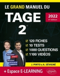Le Grand Manuel du TAGE 2 – édition 2022